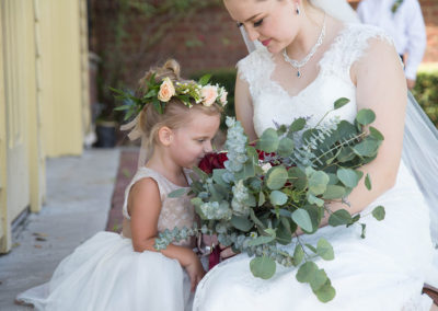 Outdoor Venue - Bride and Flower Girl