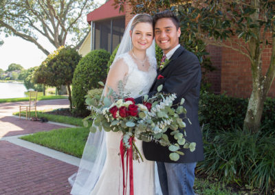 Outdoor Venue - Bride and Groom - Beautiful Wedding Photographs - Venue Rental - Williamsburg Square - United Women's Club of Lakeland