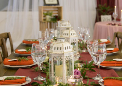 Table Decorations - Indoor Wedding Reception