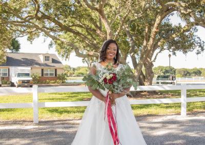 The Bride - Outdoor Wedding Venue - Bridal Portrait - Beautiful Wedding Photographs - Venue Rental - Williamsburg Square - United Women's Club of Lakeland