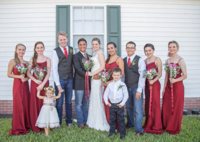 Wedding Party - Bride, groom, groomsmen, bridesmaids, ring bearer, and flower girl - Venue Rental - Williamsburg Square - United Women's Club of Lakeland