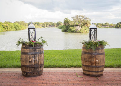 Wedding Ceremony Decorations - Outdoor Wedding Venue - Williamsburg Square - Lakeland, FL