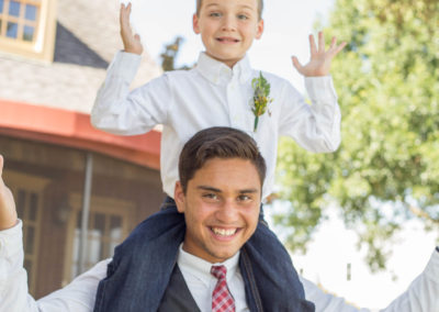 Outdoor Wedding Venue - Groom and Ring Bearer