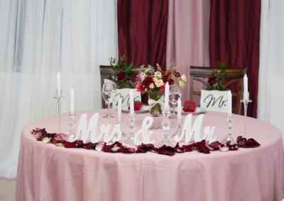 Sweetheart Table - Indoor Wedding Reception