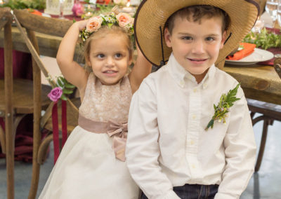Wedding Reception - Ring Bearer and Flower Girl