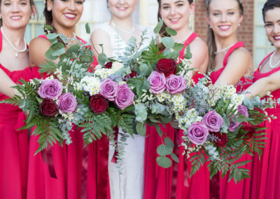 Outdoor Venue - Wedding Party - Bride and bridesmaids - Wedding Flowers - Venue Rental
